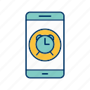 alarm, app, application, mobile, phone icon