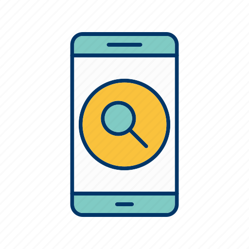app, application, mobile, phone, search icon