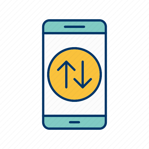 app, application, connection, data, mobile, phone icon