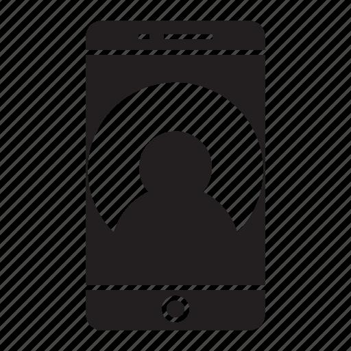 app, mobile, phone, profile icon