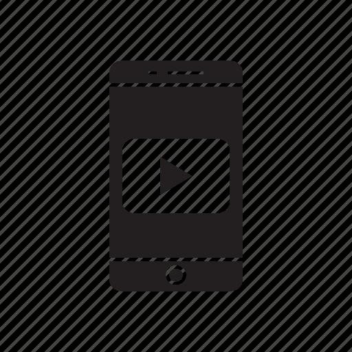 app, mobile, phone, video, youtube icon