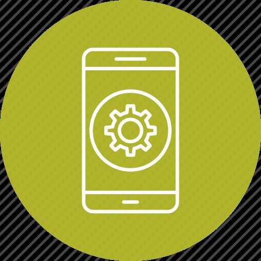 app, mobile, phone, setting icon