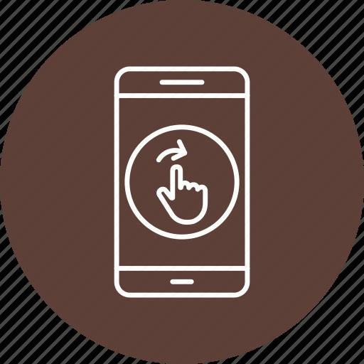 app, mobile, phone, swipe icon
