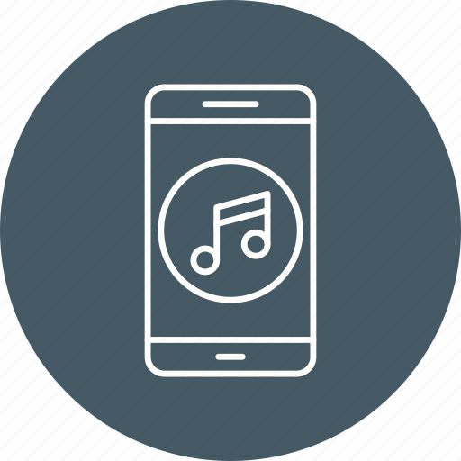 app, mobile, music icon