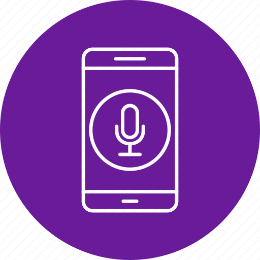 app, microphone, mobile, phone icon