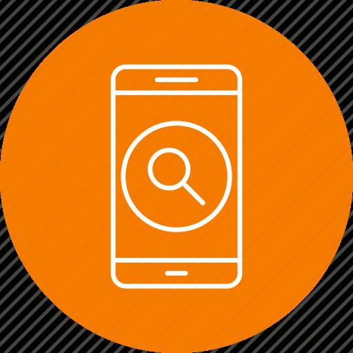 app, mobile, search icon