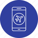airplane, app, mobile icon