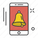 app, application, bell, communication, mobile, technology, ui icon