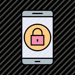 app, lock, mobile icon
