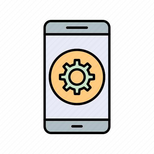 app, mobile, setting icon