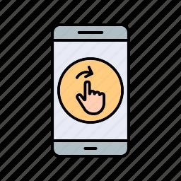 app, mobile, swipe icon