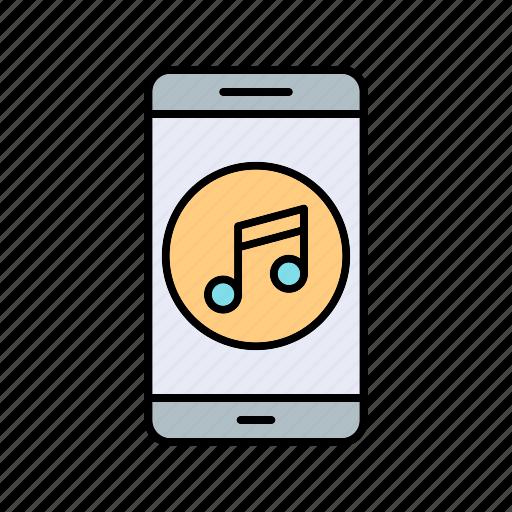 app, mobile, music icon