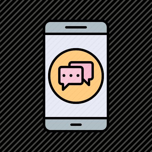 app, conversation, mobile icon