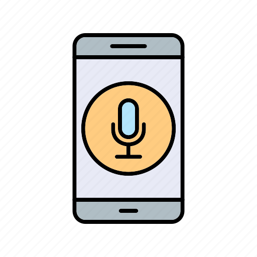 app, microphone, mobile icon