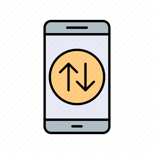 app, data connection, mobile, phone icon