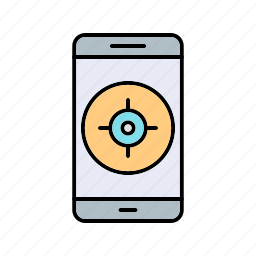 app, gps, mobile icon