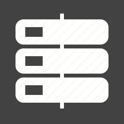 data, drive, management, mobile, phone, server, storage icon
