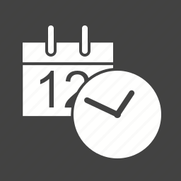alarm, date, mobile, phone, time, watch, year icon