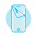 foil, membrane, mobile, phone, protection icon