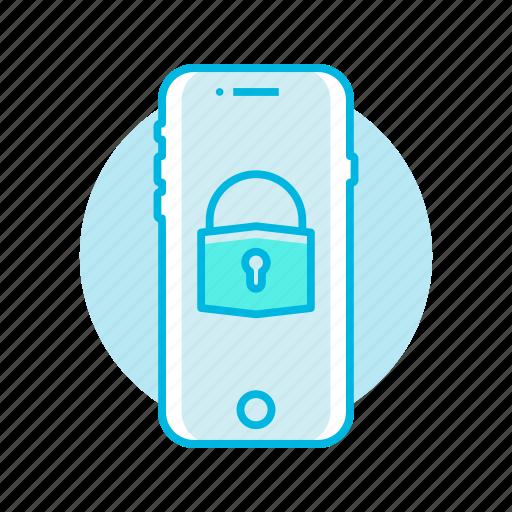 lock, mobile, phone, security, unlock icon