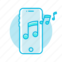mobile, music, phone, ringtone, sound icon