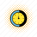 alarm, cartoon, clock, comics, minute, pop, time icon