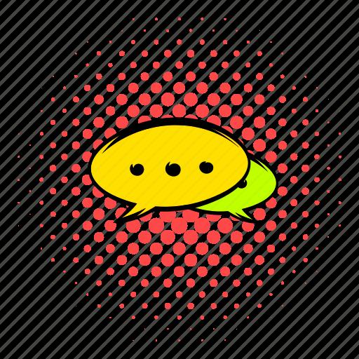 bubble, chat, comics, design, internet, message, talk icon