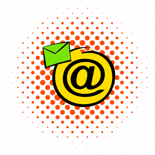 comics, e-mail, email, envelope, internet, mail, mailing icon