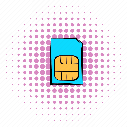 card, comics, mobile, phone, sim, technology, telephone icon