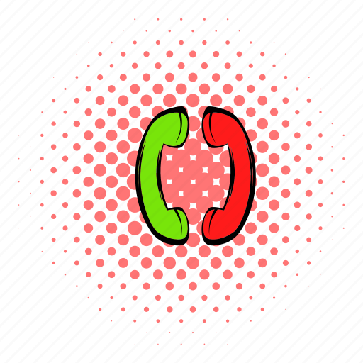 cable, call, chat, comics, communication, phone, two icon