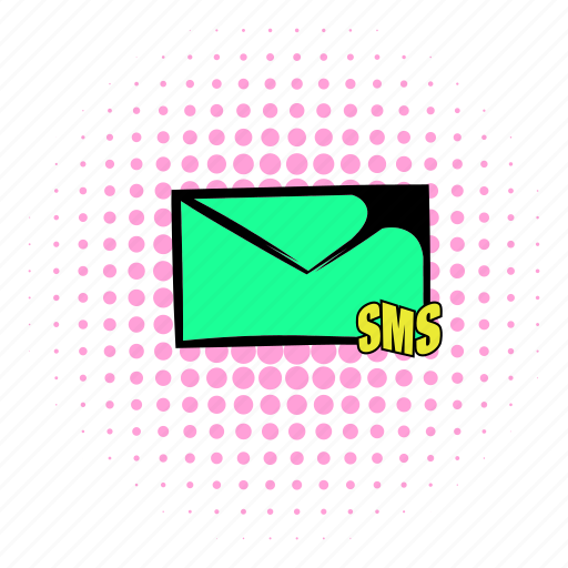 comics, contact, design, email, internet, mail, sms icon