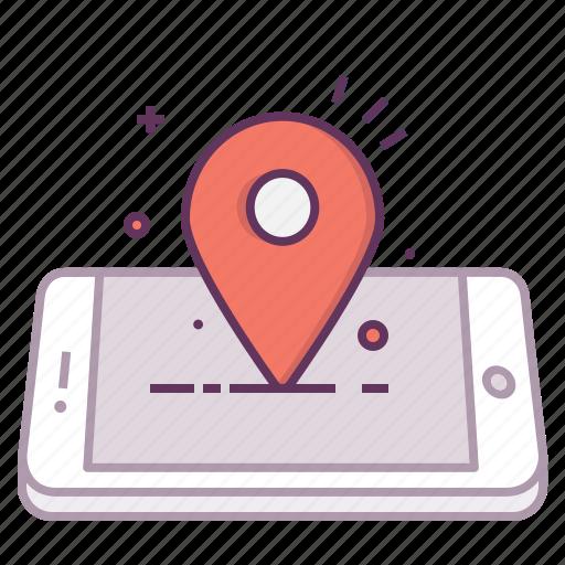 concept, location, mark, mobile, navigation, pin icon