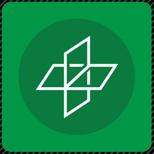 axis, flatness, geometry icon