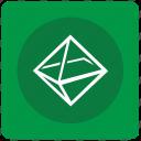 complex, figure, geometry, octahedron icon