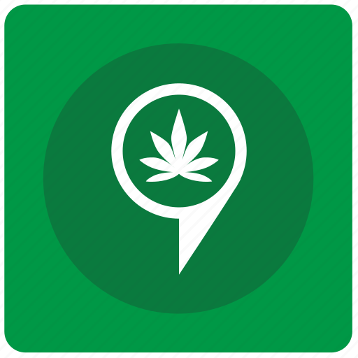 canabis, drug, geo, location, plant, pointer icon