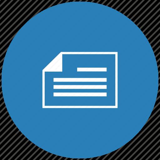 album, blue, doc, document, page, round icon