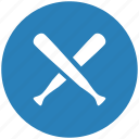 baseball, blue, game, round, sport icon