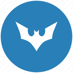 bat, batman, blue, comics, fly, round icon