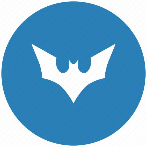 Bat Batman Blue Comics Fly Round Icon