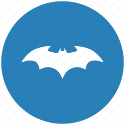 bat, batman, blue, comics, hero, round icon