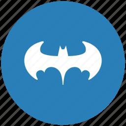 bat, batman, blue, legend, round icon