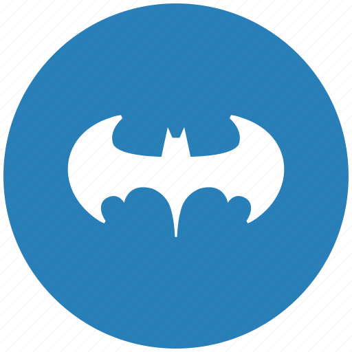 Bat Batman Blue Legend Round Icon