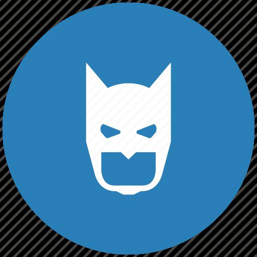 bat, batman, blue, face, mask, round icon