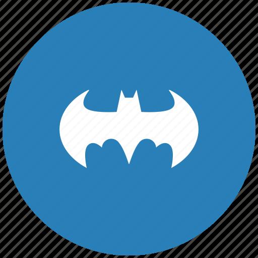 bat, batman, blue, round icon