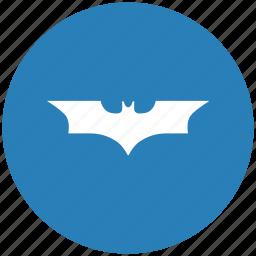 bat, batman, blue, comics, round icon
