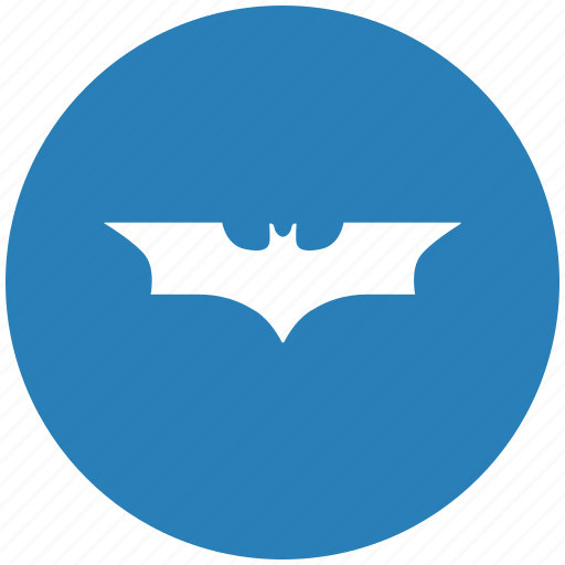Bat Batman Blue Comics Round Icon