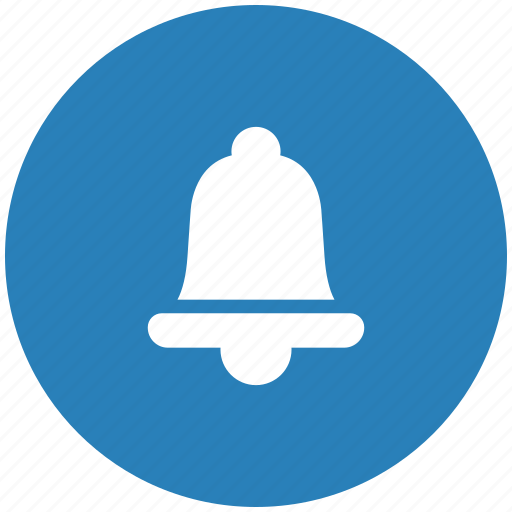 alarm, bell, blue, ring, round icon
