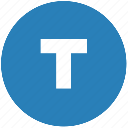 blue, bold, format, letter, round, text, weight icon