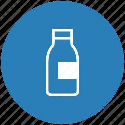 blue, bottle, drink, milk, round icon