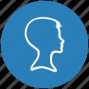 blue, boy, hair, head, round, style icon
